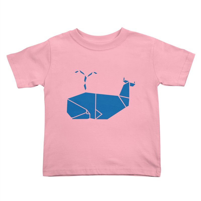 Blue Whale Origami Kids Toddler T-Shirt by Synner Design