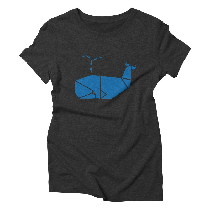 Blue Whale Origami Women's Triblend T-Shirt by Synner Design