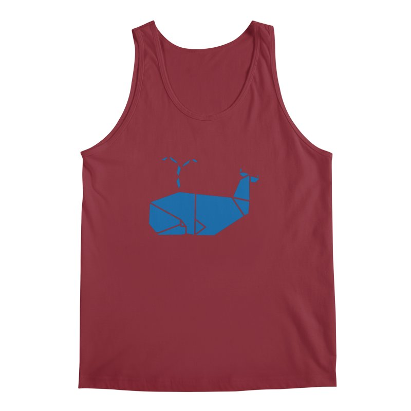 Blue Whale Origami Men's Tank by Synner Design