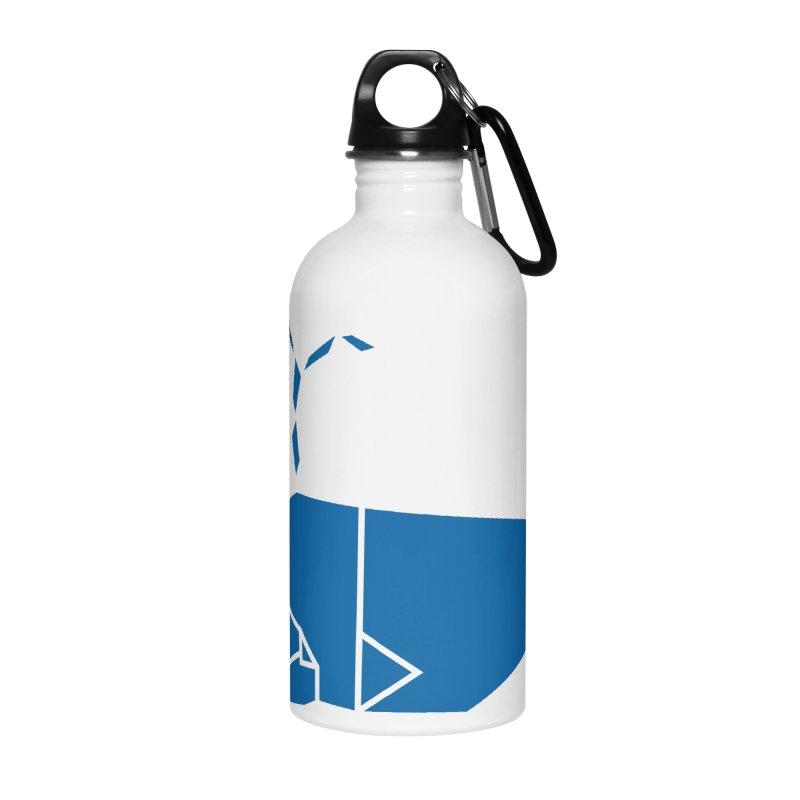 Blue Whale Origami Accessories Water Bottle by Synner Design