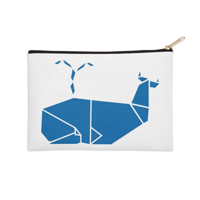 Blue Whale Origami Accessories Zip Pouch by Synner Design