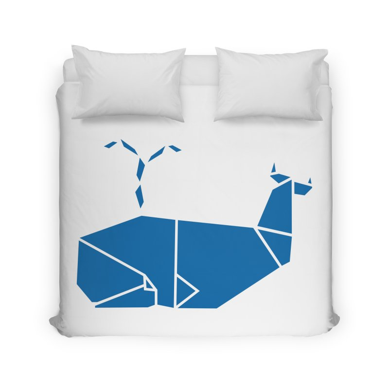 Blue Whale Origami Home Duvet by Synner Design