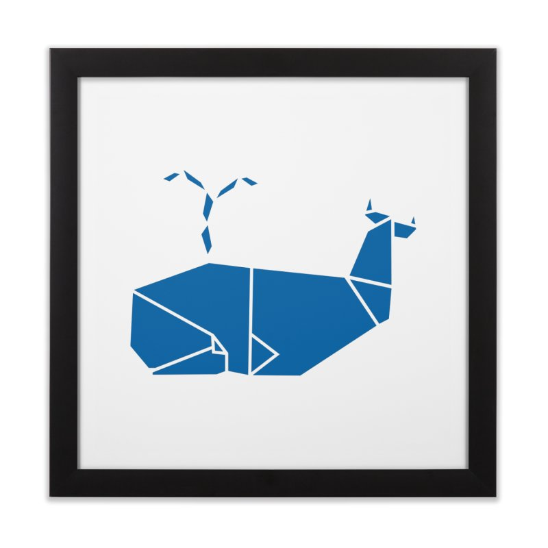 Blue Whale Origami Home Framed Fine Art Print by Synner Design
