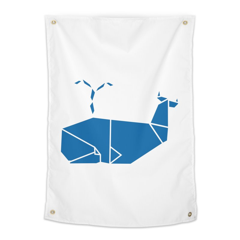 Blue Whale Origami Home Tapestry by Synner Design