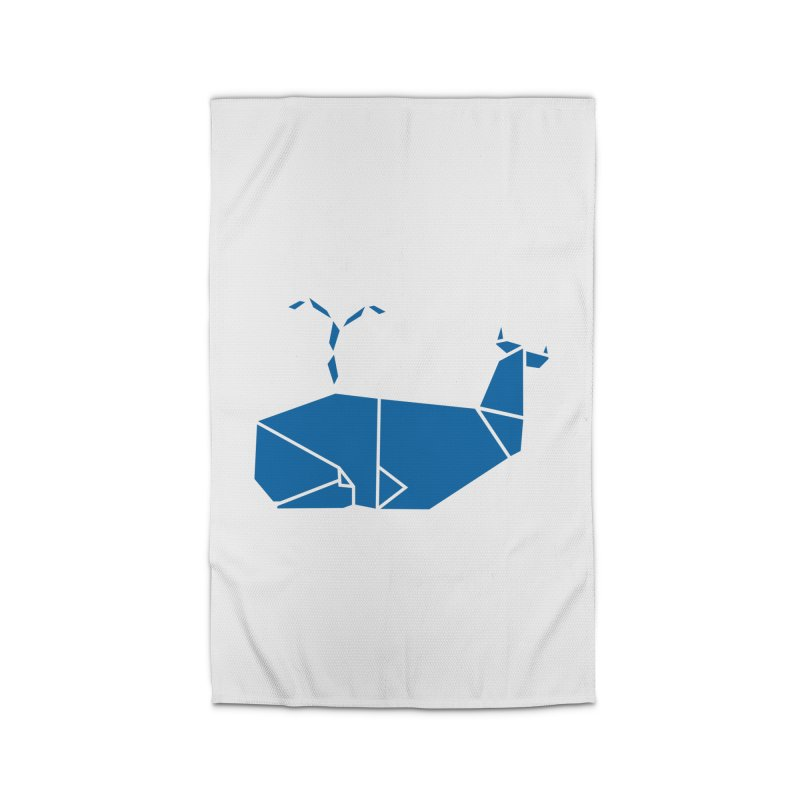 Blue Whale Origami Home Rug by Synner Design
