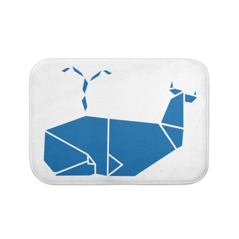 Blue Whale Origami Home Bath Mat by Synner Design
