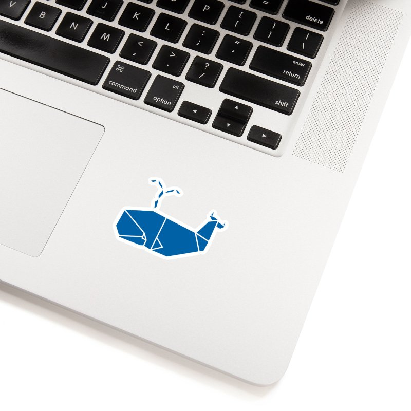Blue Whale Origami Accessories Sticker by Synner Design