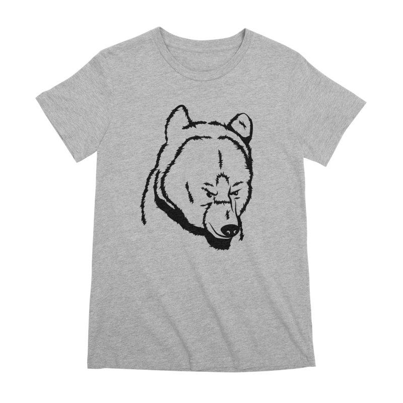 Black Bear Women's Premium T-Shirt by Synner Design