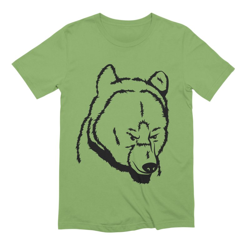 Black Bear Men's Extra Soft T-Shirt by Synner Design