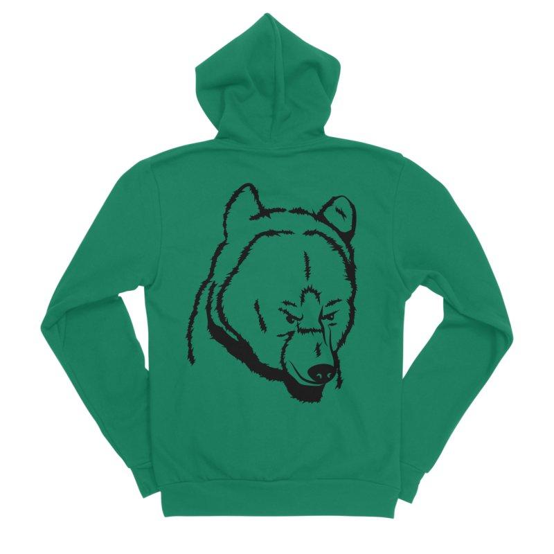 Black Bear Women's Sponge Fleece Zip-Up Hoody by Synner Design