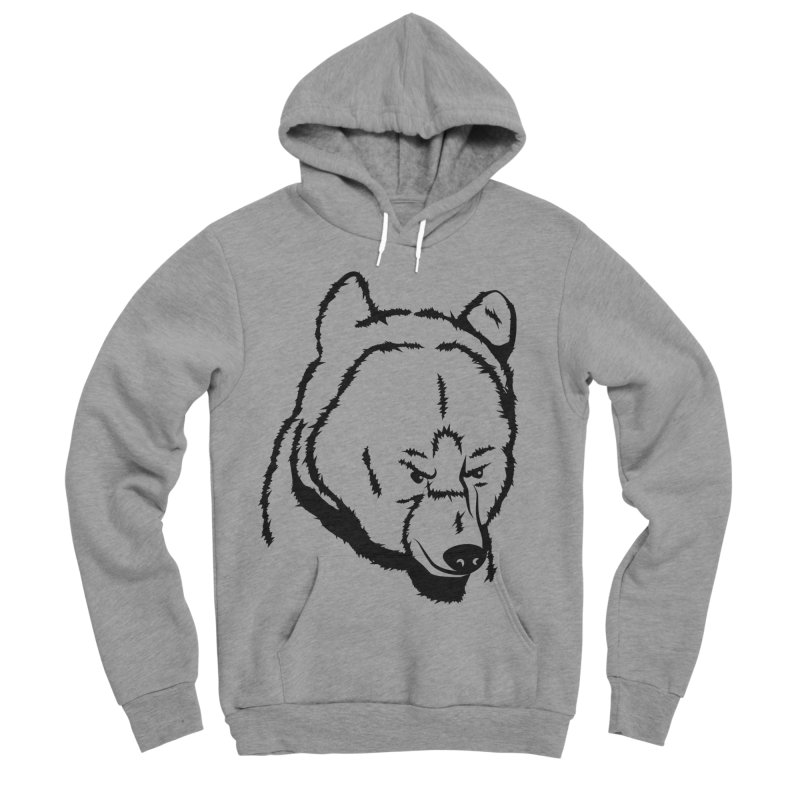 Black Bear Men's Sponge Fleece Pullover Hoody by Synner Design