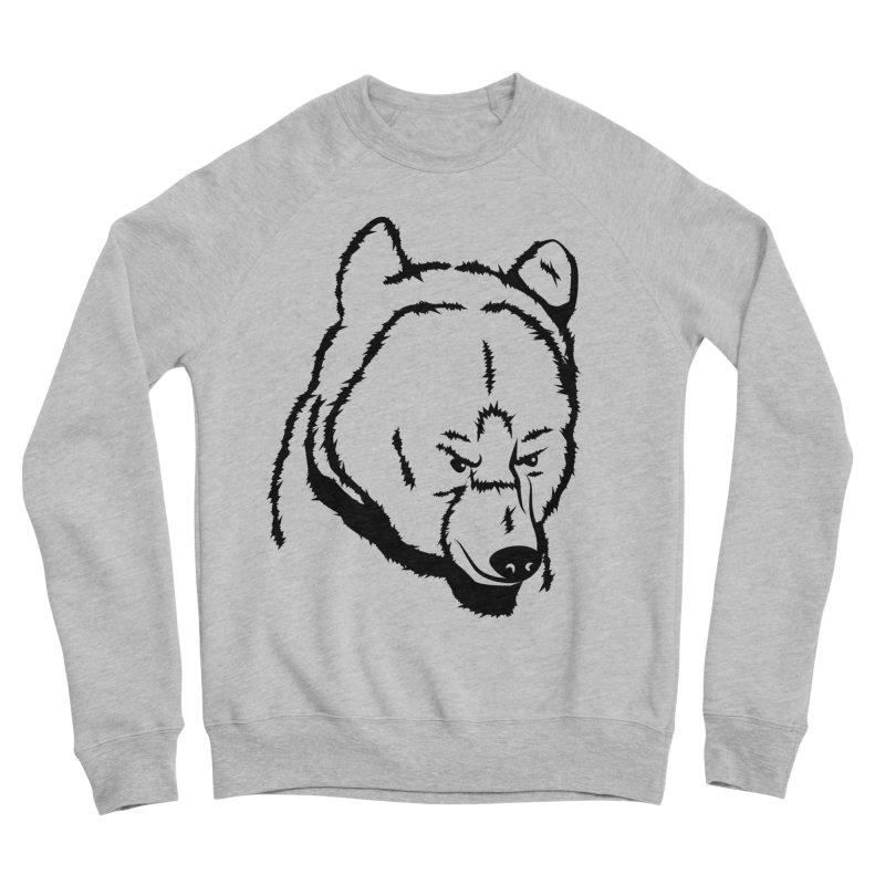 Black Bear Men's Sponge Fleece Sweatshirt by Synner Design