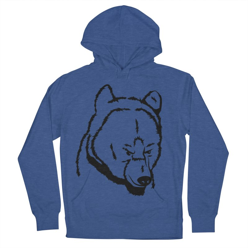 Black Bear Women's French Terry Pullover Hoody by Synner Design
