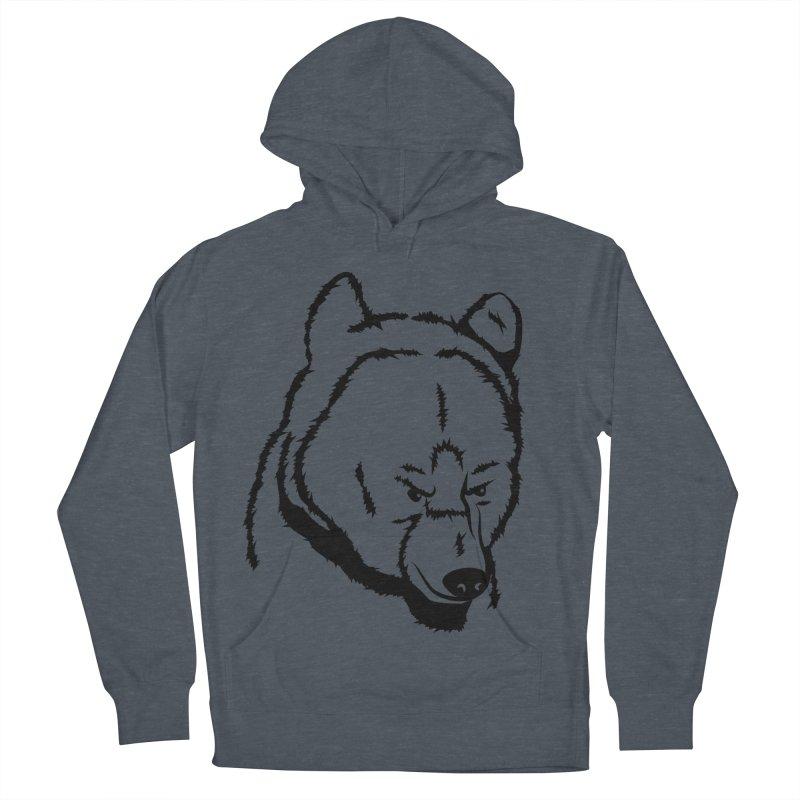 Black Bear Men's Pullover Hoody by Synner Design