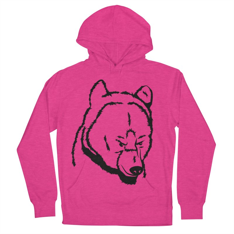 Black Bear Men's French Terry Pullover Hoody by Synner Design
