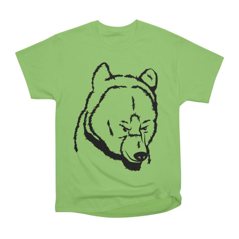 Black Bear Men's Heavyweight T-Shirt by Synner Design