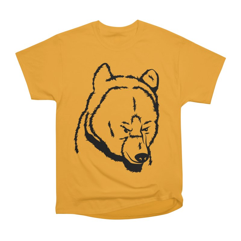 Black Bear Men's Heavyweight T-Shirt by Synner Design