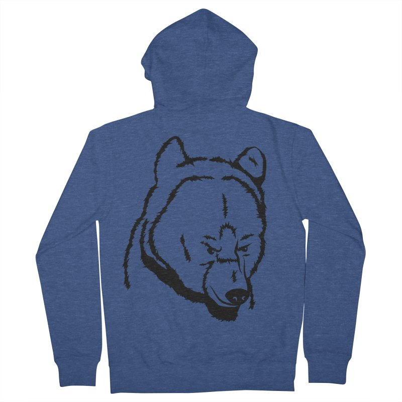 Black Bear Women's French Terry Zip-Up Hoody by Synner Design