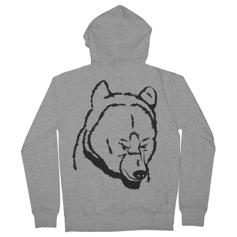 Black Bear Men's French Terry Zip-Up Hoody by Synner Design