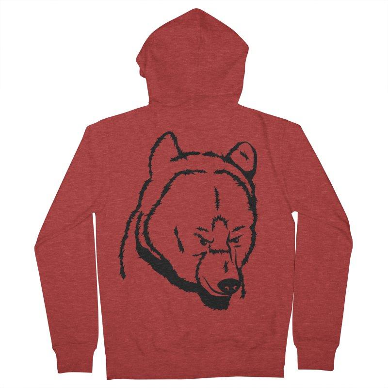 Black Bear Men's Zip-Up Hoody by Synner Design