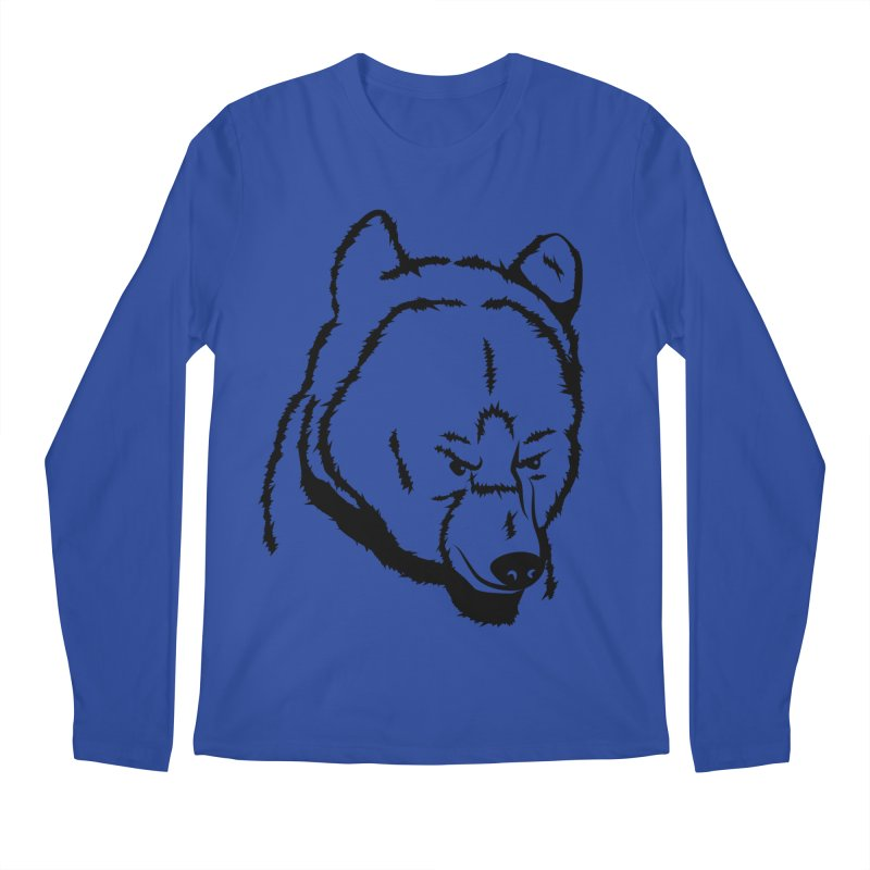 Black Bear Men's Regular Longsleeve T-Shirt by Synner Design