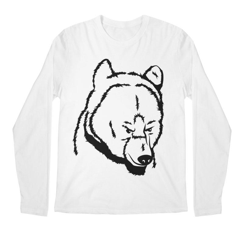 Black Bear Men's Regular Longsleeve T-Shirt by Synner Design