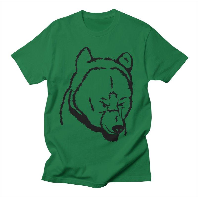 Black Bear Men's T-Shirt by Synner Design