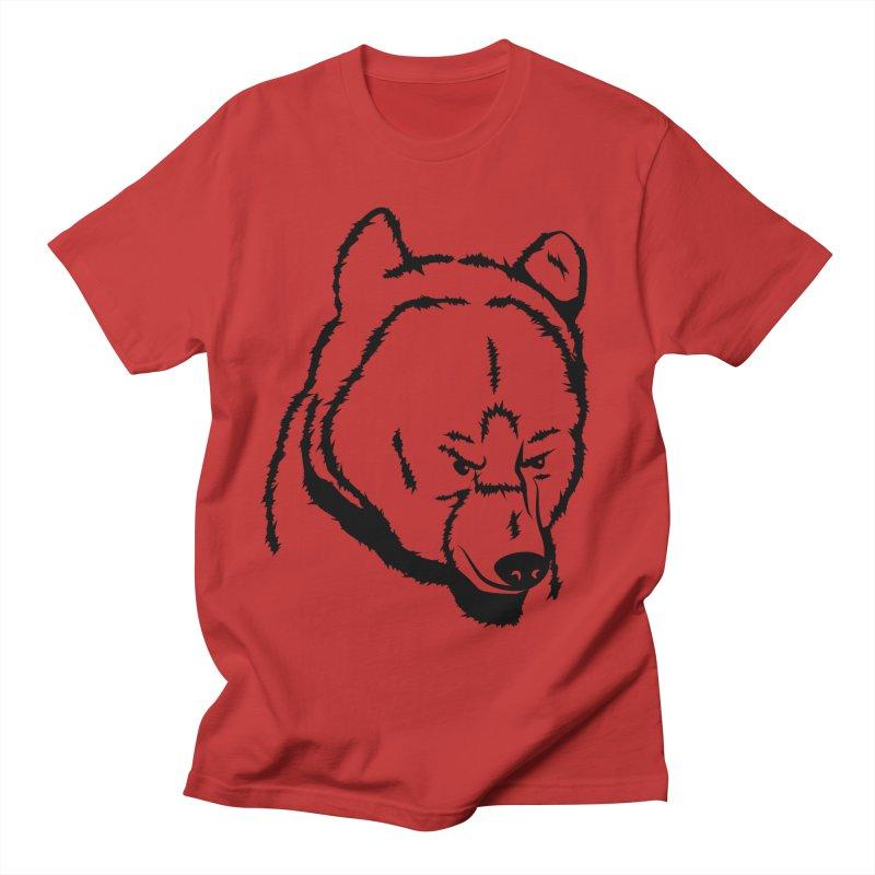 Black Bear Men's Regular T-Shirt by Synner Design