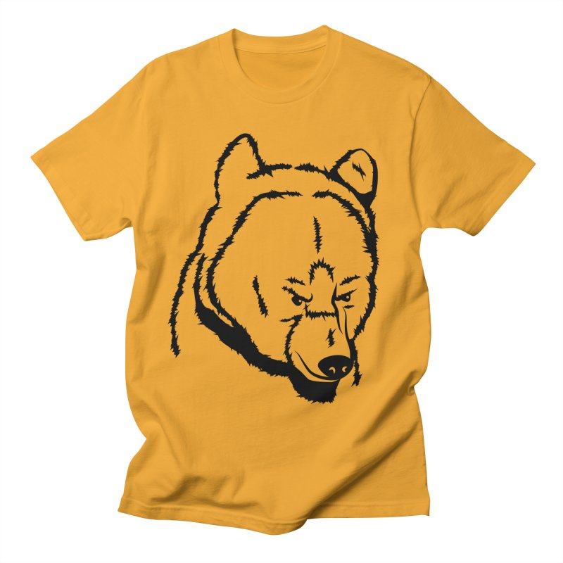 Black Bear Men's T-Shirt by Synner Design