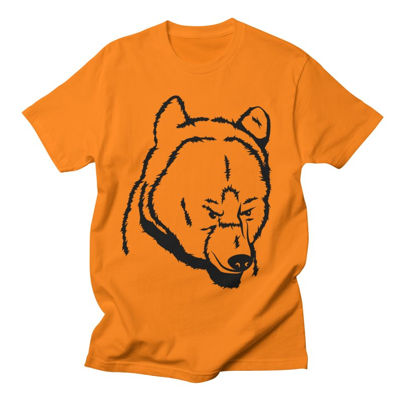 Black Bear Men's Regular T-Shirt by Synner Design