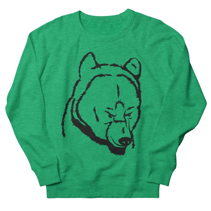 Black Bear Women's French Terry Sweatshirt by Synner Design