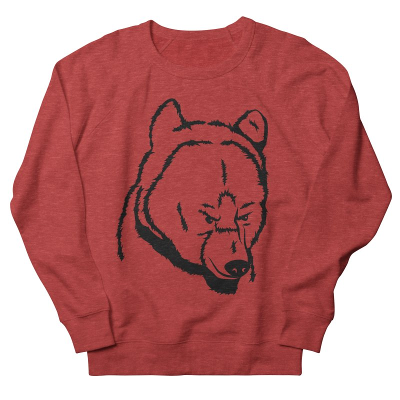 Black Bear Men's French Terry Sweatshirt by Synner Design