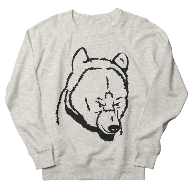 Black Bear Men's French Terry Sweatshirt by Synner Design