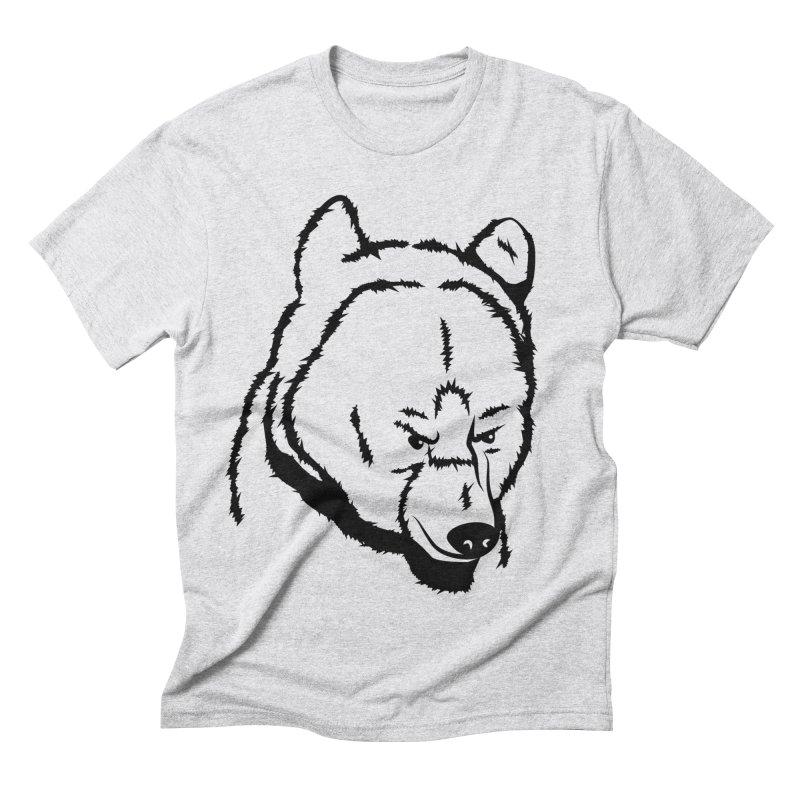Black Bear Men's Triblend T-Shirt by Synner Design