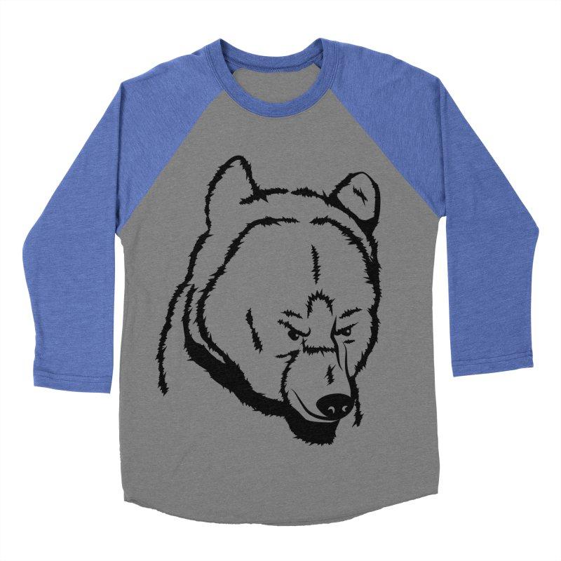 Black Bear Women's Baseball Triblend Longsleeve T-Shirt by Synner Design