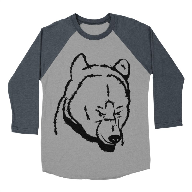 Black Bear Women's Baseball Triblend Longsleeve T-Shirt by Synner Design