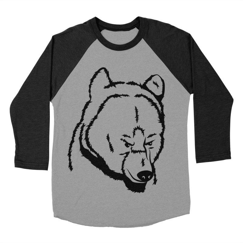 Black Bear Men's Baseball Triblend Longsleeve T-Shirt by Synner Design
