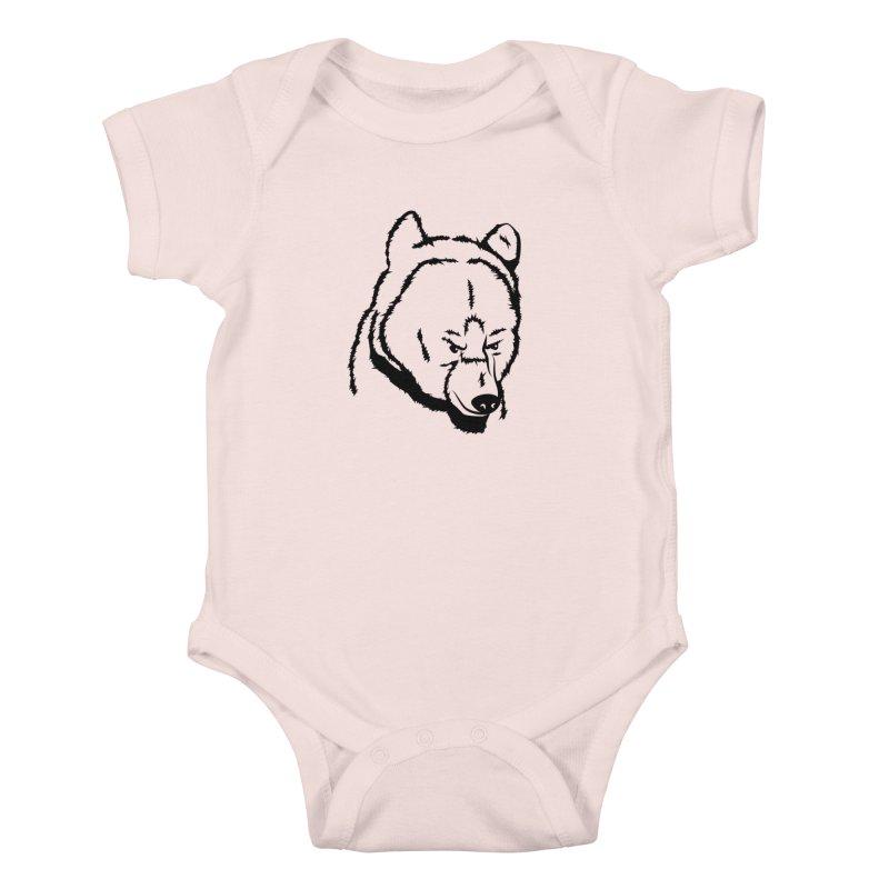 Black Bear Kids Baby Bodysuit by Synner Design