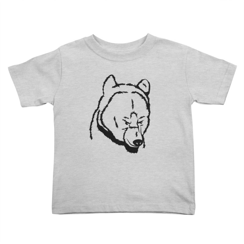 Black Bear Kids Toddler T-Shirt by Synner Design