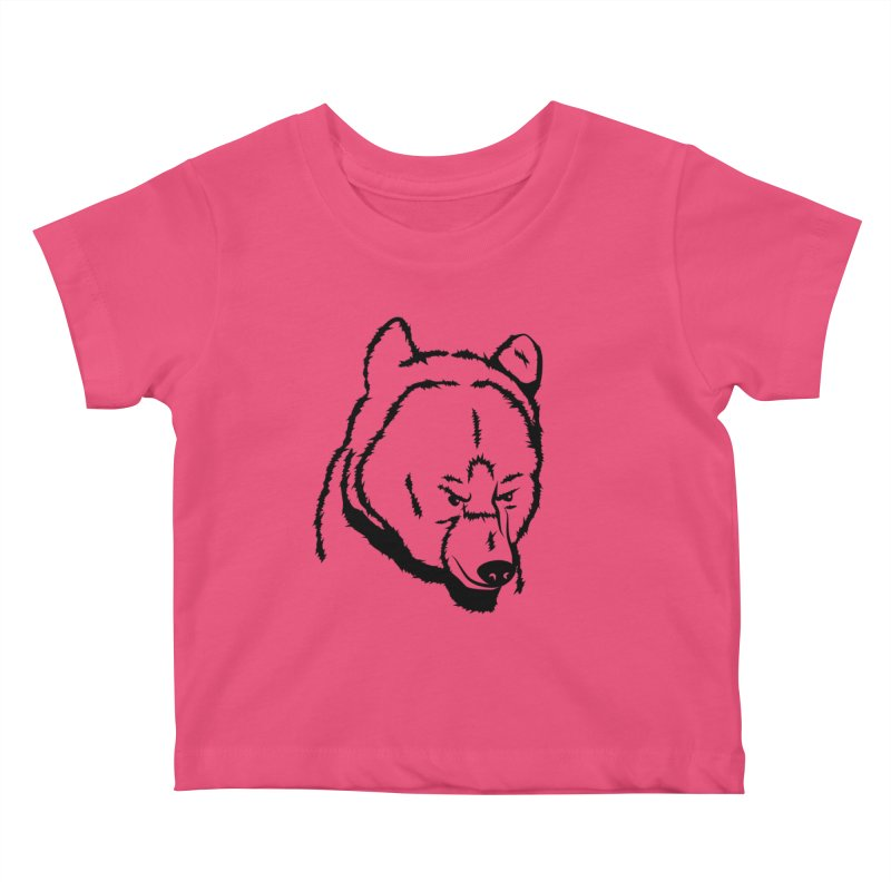 Black Bear Kids Baby T-Shirt by Synner Design