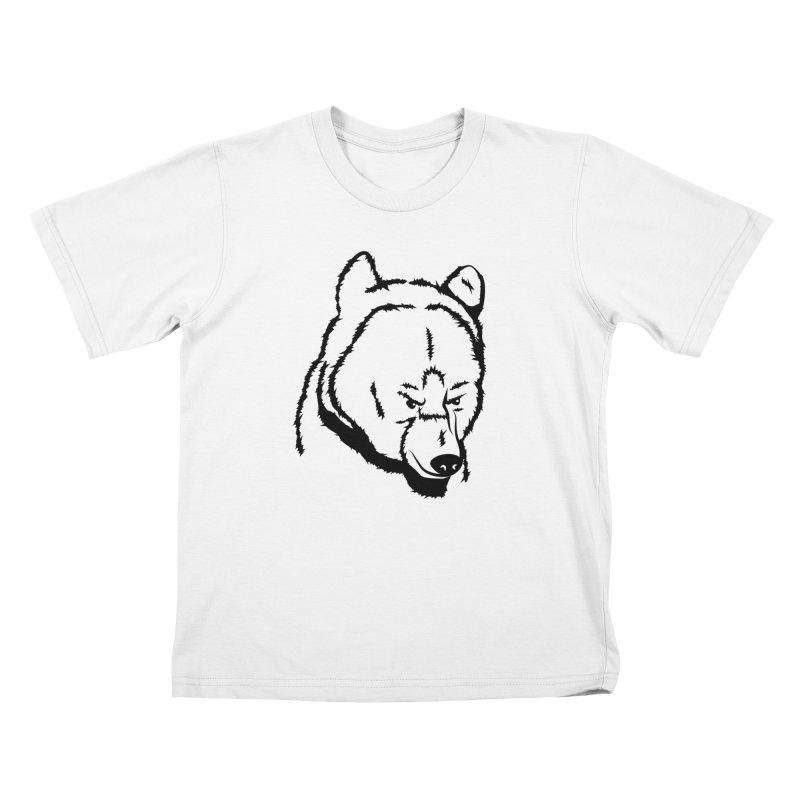 Black Bear Kids T-Shirt by Synner Design