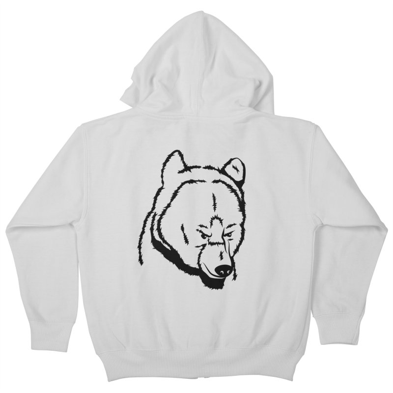 Black Bear Kids Zip-Up Hoody by Synner Design