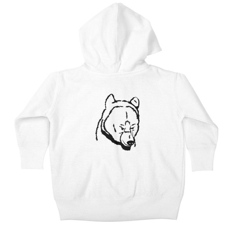Black Bear Kids Baby Zip-Up Hoody by Synner Design