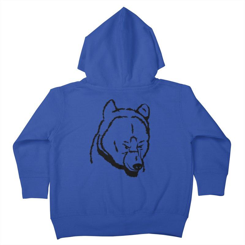 Black Bear Kids Toddler Zip-Up Hoody by Synner Design