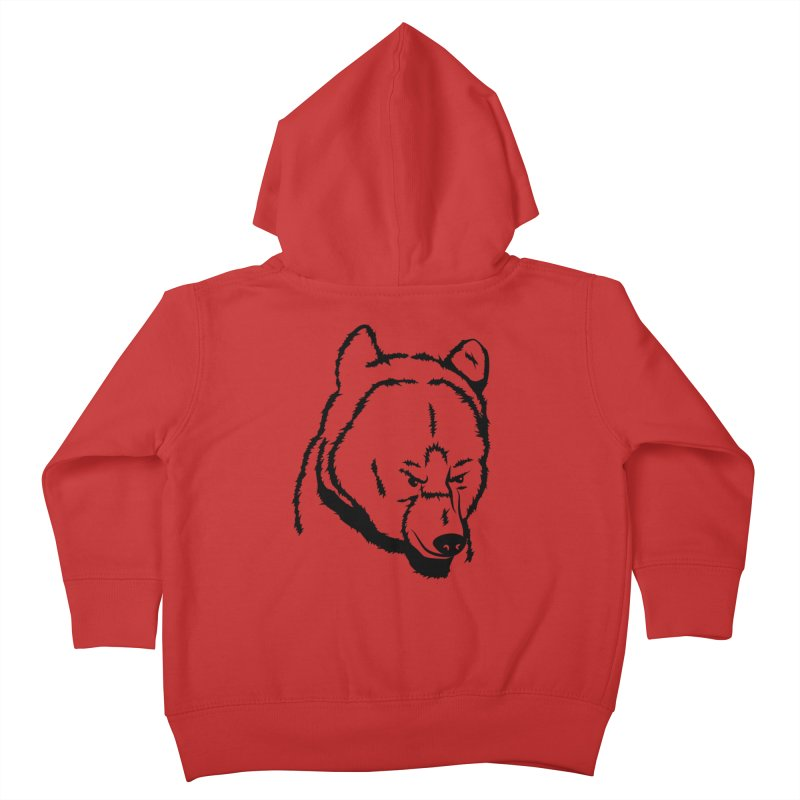 Black Bear Kids Toddler Zip-Up Hoody by Synner Design