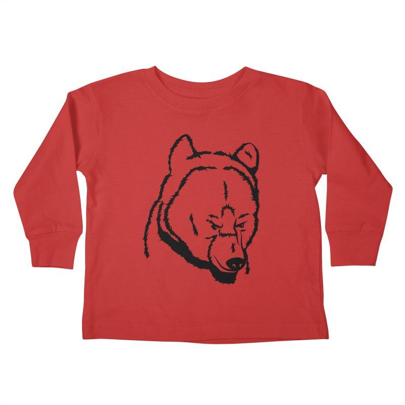 Black Bear Kids Toddler Longsleeve T-Shirt by Synner Design