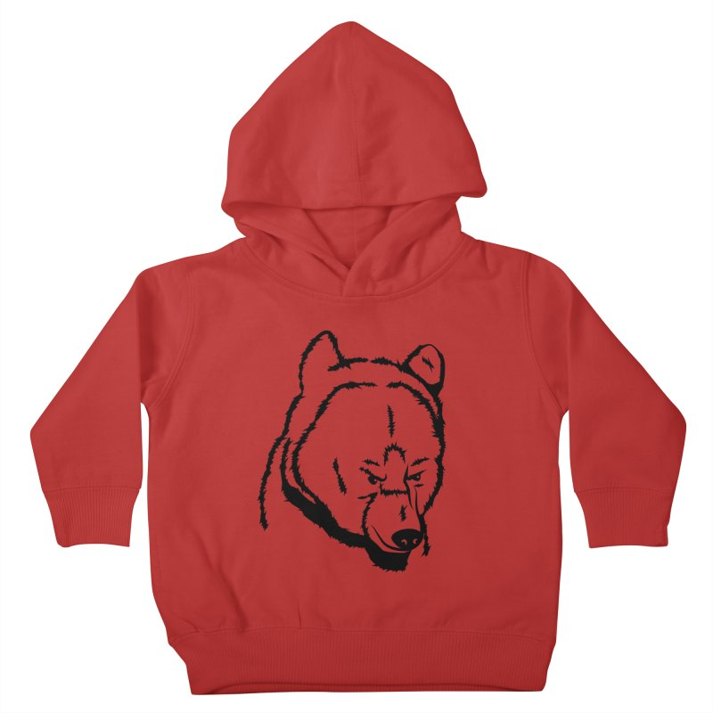 Black Bear Kids Toddler Pullover Hoody by Synner Design