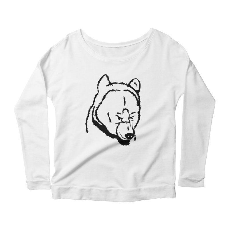 Black Bear Women's Scoop Neck Longsleeve T-Shirt by Synner Design