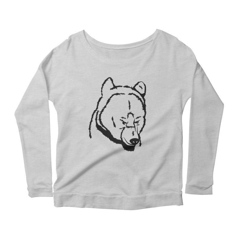 Black Bear Women's Scoop Neck Longsleeve T-Shirt by Synner Design