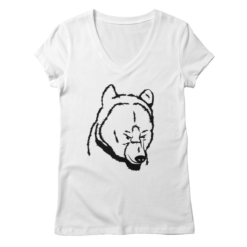Black Bear Women's V-Neck by Synner Design